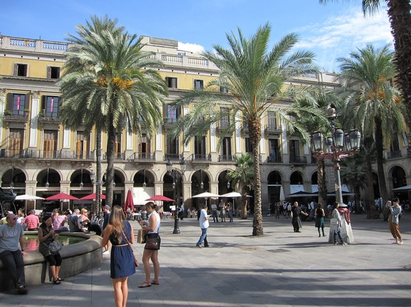 Plaça Reial, Barcelona.