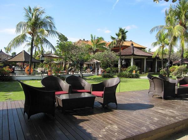 Större resort, Jimbaran beach, Bali.