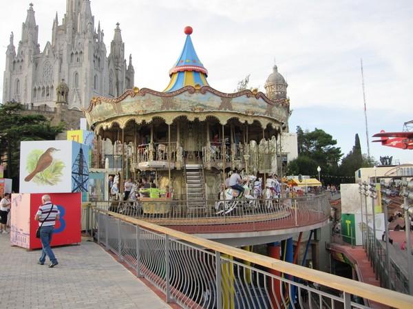 Nöjesfältet uppe på Tibidabo, Barcelona.