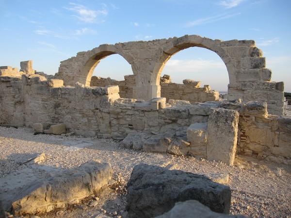 Det antika Kourion, Cyperns sydkust.