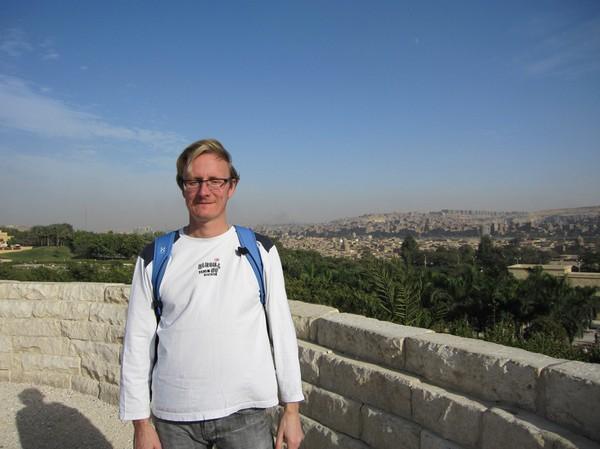 Stefan i Al-Azhar park, Kairo.