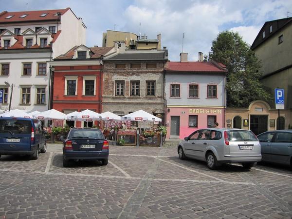 Centrum i judiska kvarteret, Kazimierz, Krakow.