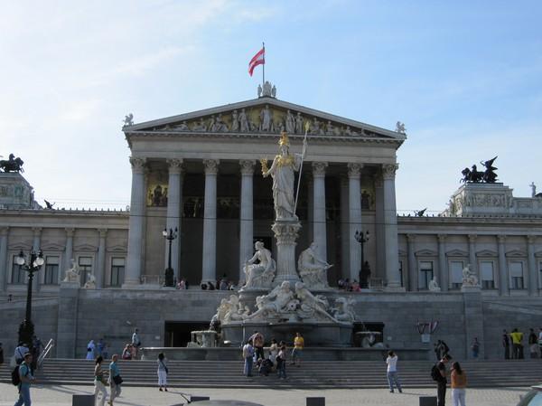 Parlamentet i Wien.