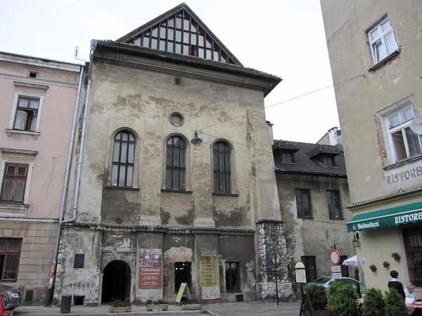 Judisk arkitektur, judiska kvarteret, Kazimierz, Krakow.