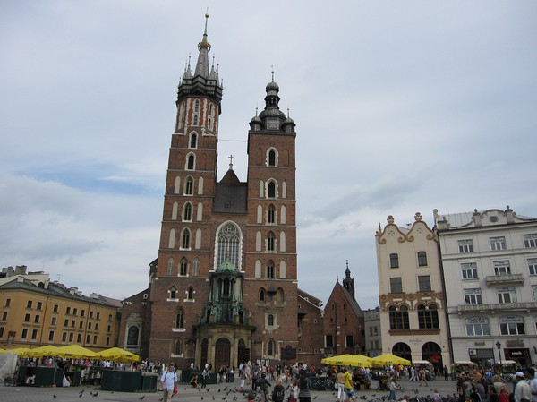 Basilica of the Assumption of Our Lady, gamla staden, Krakow.