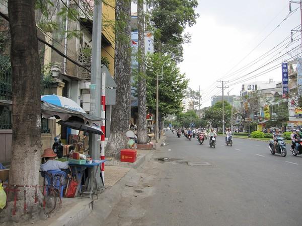 Gatuscen under promenad mellan olika pagodor, Cholon.