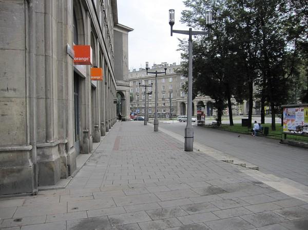 Vid Plac Centralny, även kallad Lenin square, Nowa Huta, Krakow.