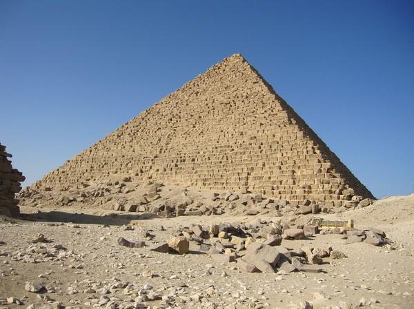 Mycerinus pyramiden söderifrån.