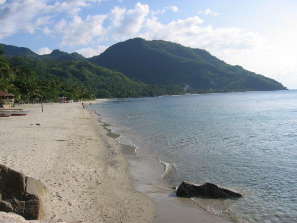 Aninuan Beach, Mindoro, Filippinerna.