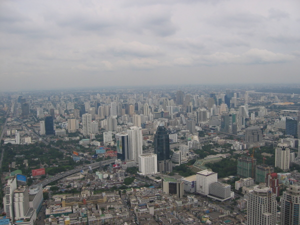 Bangkok skyline från Baiyoke Tower.
