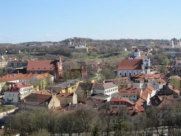 Vilnius från Gediminas hill, Vilnius.