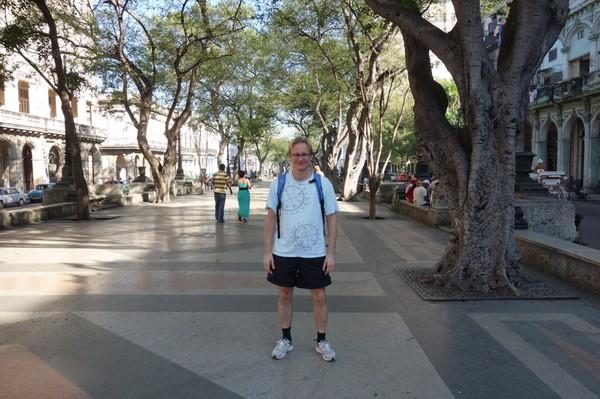 Stefan på Prado (Paseo de Marti), Centro Habana, Havanna.