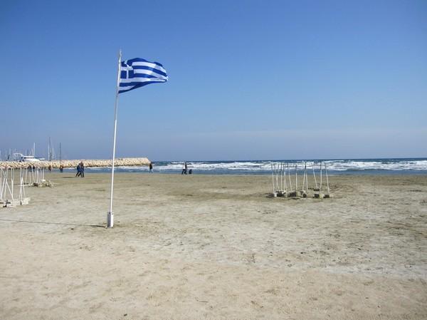 Stranden i centrala Larnaka.