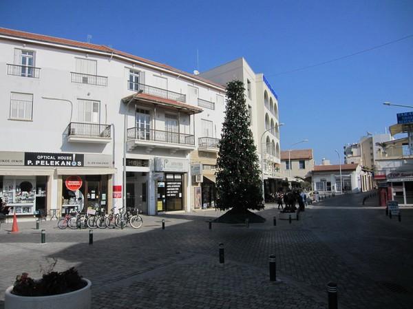Julstämning  i centrala Larnaka.