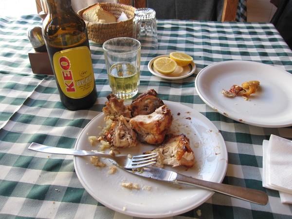 Lunch på Militzis i centrala Larnaka.