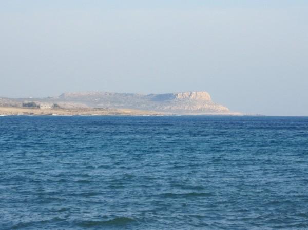 Cape Greco sedd från Agia Napa.