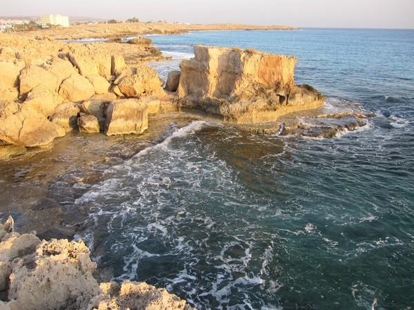 Stranden i närheten av Vingresors hotell i Agia Napa.