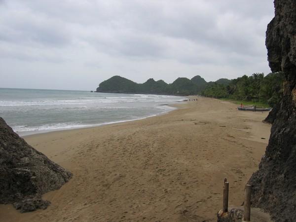 Sugar beach, Sipalay, Negros. Vädret gör att stranden inte alls är så vacker på bilden som den borde vara!