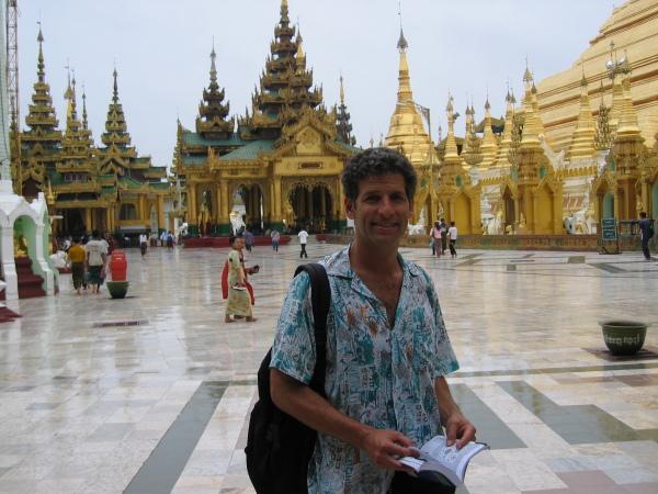 Min polare Brad från Los Angeles, Schwedagon Paya, Yangon.