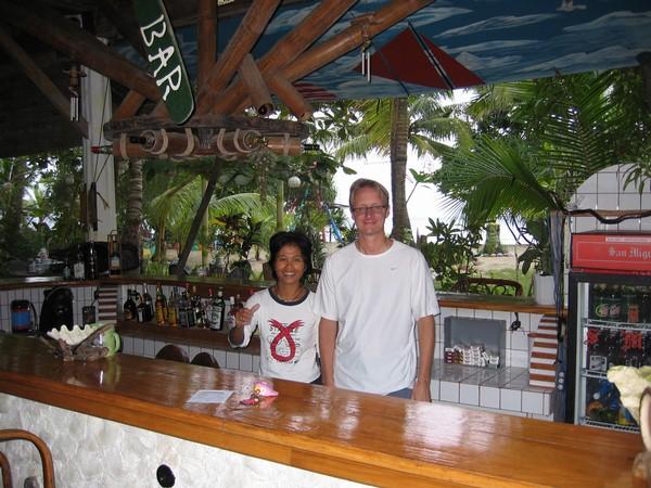 Jag tillsammans med Zenaida, Bermuda beach resort, Sugar beach.