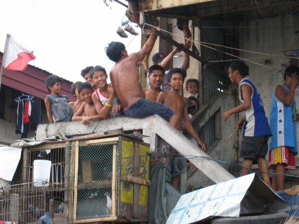 Livet i slummen, North Port District, Manila.