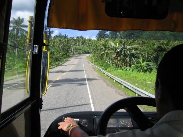 På väg till Surigao City, nordöstra Mindanao.