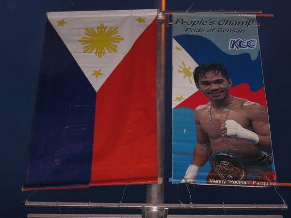 Manny Pacquiao, nationalhjälte på Filippinerna.