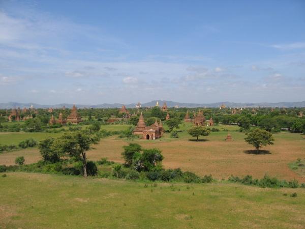 En del av tempelslätten, Bagan.