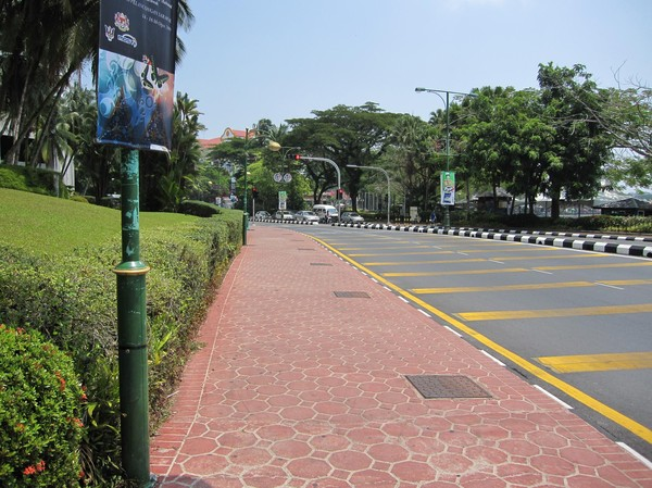 Välansat och välskött stadskärna, Kuching.