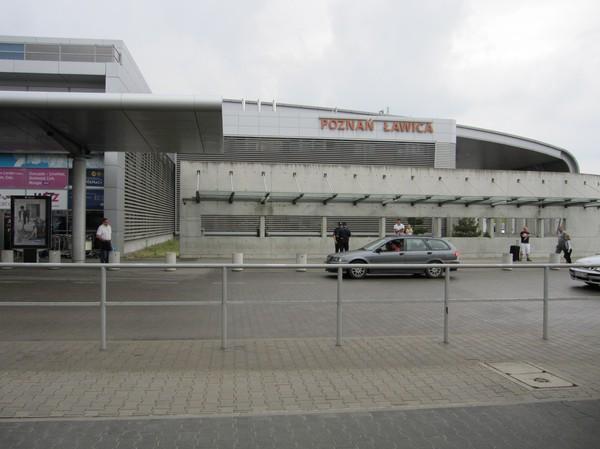 Flygplatsen i Poznan, Polen.