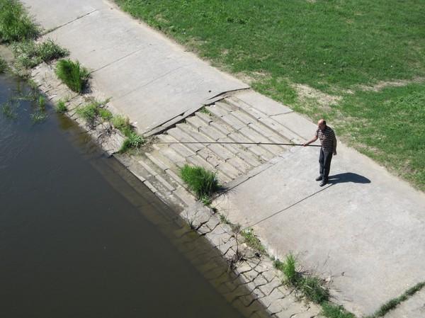 Fiske i Wartafloden, Poznan.