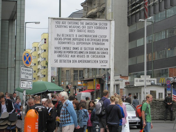 Checkpoint Charlie, Berlin.