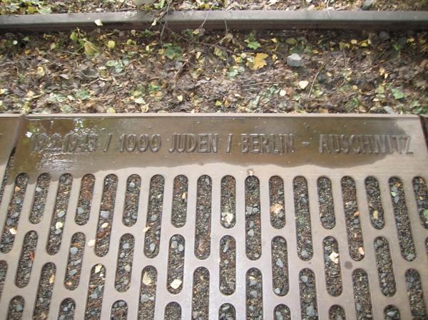 Gleis 17, dödens spår, Grunewald, Berlin.