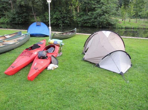 Lägerplatsen i Leipe.