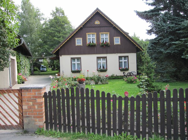 Traditionellt hus, Lübbenau, Spreewald.