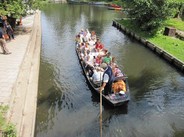Turistbåt, Lübbenau, Spreewald.