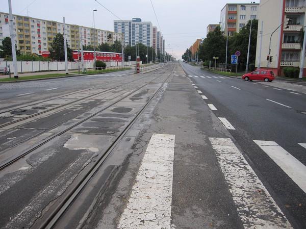 Hållplats Cerveny Vrch i nordvästra Prag.