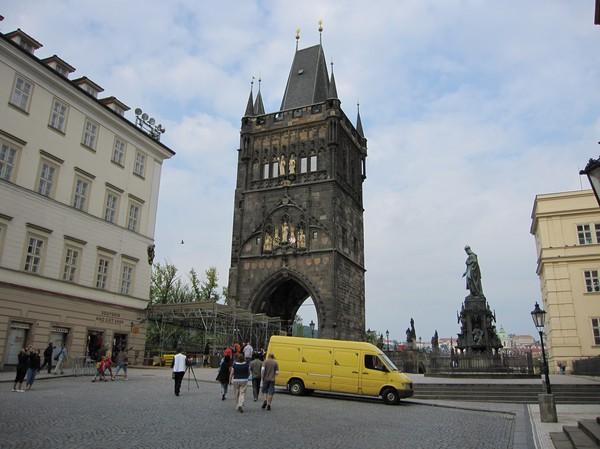 Brotornet på Charles Bridge (Staré Mesto-sidan).