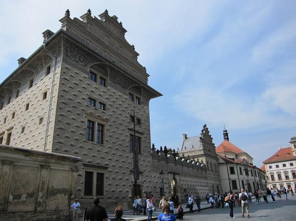 Schwarzenberg Palace, ett av Prags allra finaste renässans palats, Hradcany.