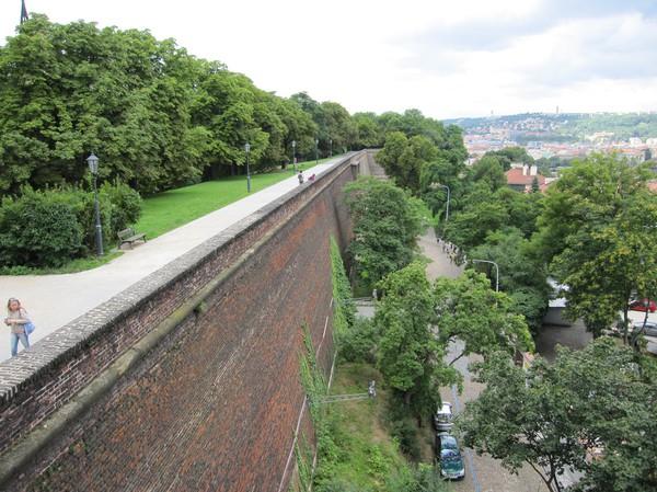 Del av slottsmuren, Vysehrad Castle.