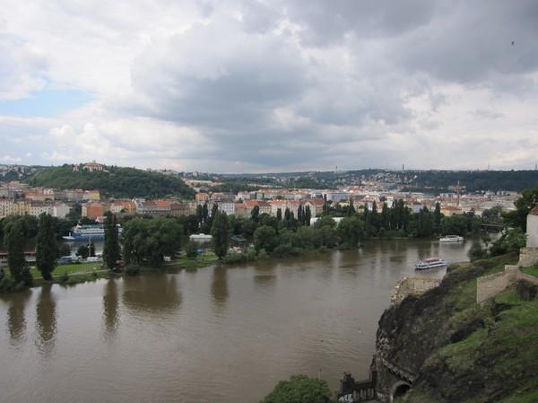 Utsikt från Vysehrad Castle.