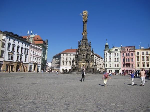 Holy Trinity Column på torget Horni Nam, Olomouc.