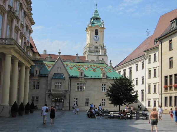 Apponyi Palace och gamla stadshuset, Bratislava.