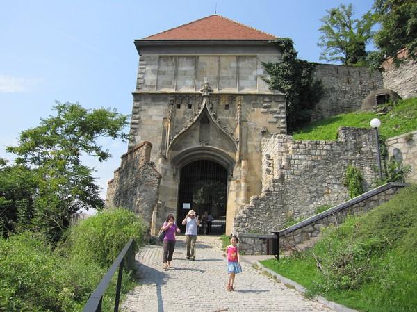 På väg upp till Bratislava castle, Bratislava.
