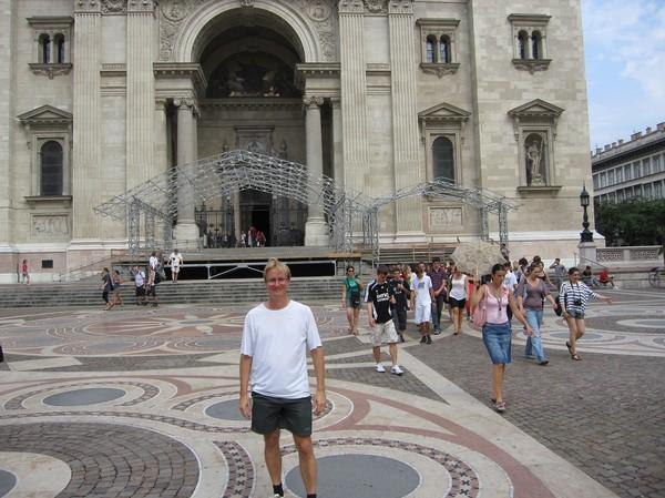 Stefan på Szent István tér, Pest, Budapest.