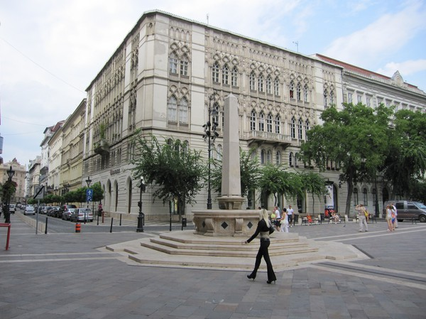 Szent István Obeliszk, Szent István tér, Pest, Budapest.