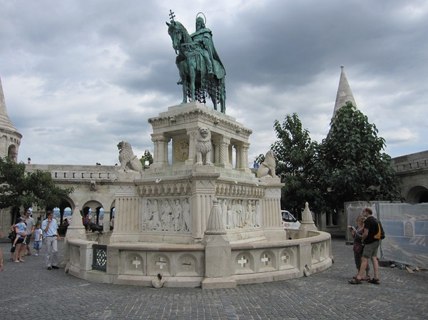 St Stephen statue, Budapest castle district.