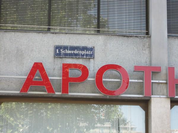 Schwedenplatz, Wien. Bara skylten i och för sig.