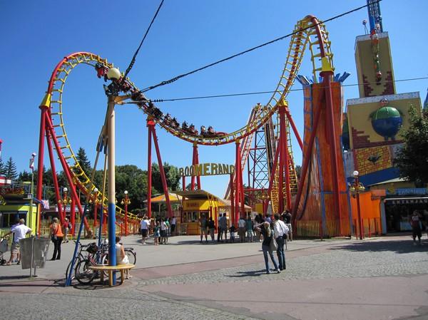 Boomerang i nöjesområdet Wurstelprater, Wien.