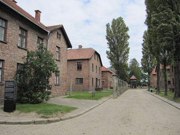Några av de olika blocken inne på koncentrationslägret Auschwitz I